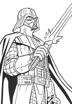 Laser Sword Of Darth Vader Coloring Page
