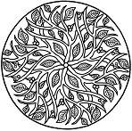 Leaves Mandala Coloring Page