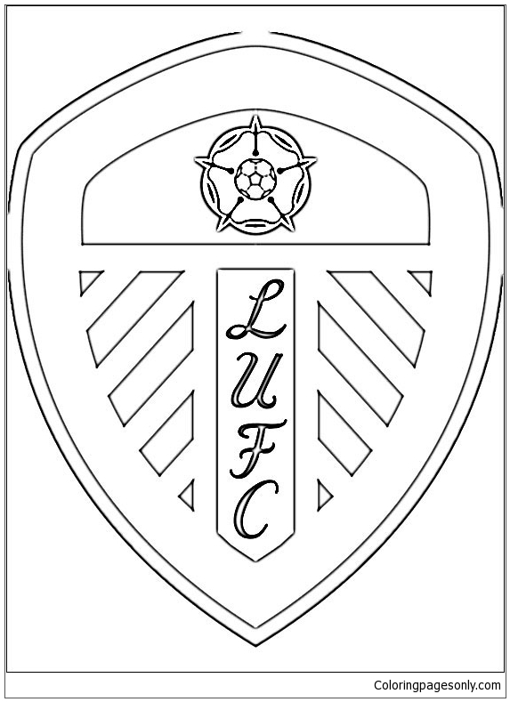 Leeds United F C Coloring Page Free Coloring Pages Online