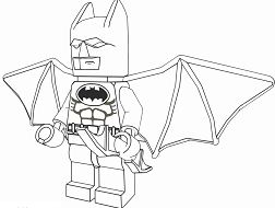Lego Batman 1 Coloring Page
