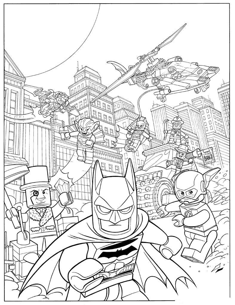 Lego Batman Action Movie Coloring Page