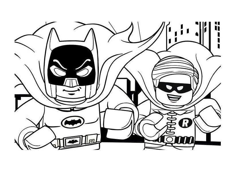 Lego Batman And Robin Super Heroes Coloring Page