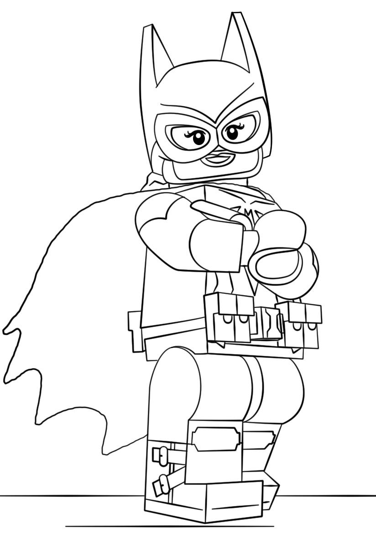 Lego Batman Batgirl Coloring Page