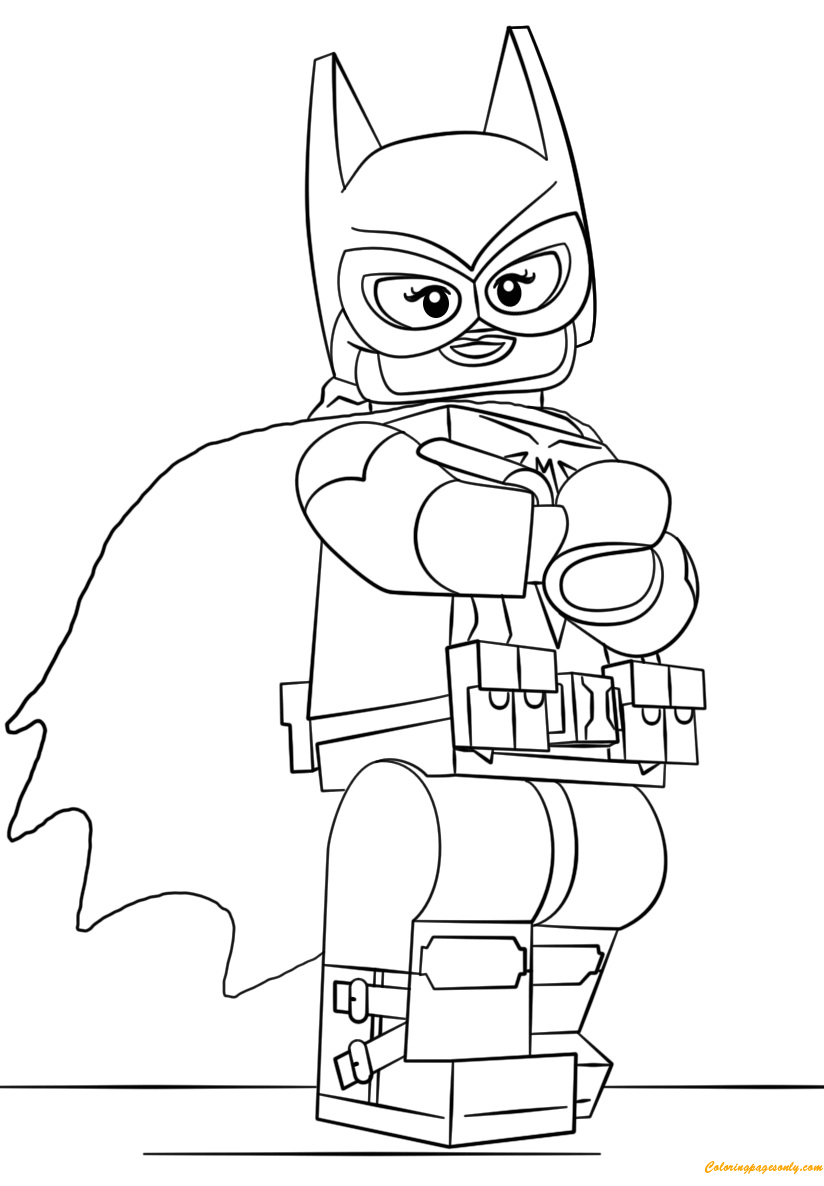 Lego Batman Batgirl Coloring Page - Free Coloring Pages Online