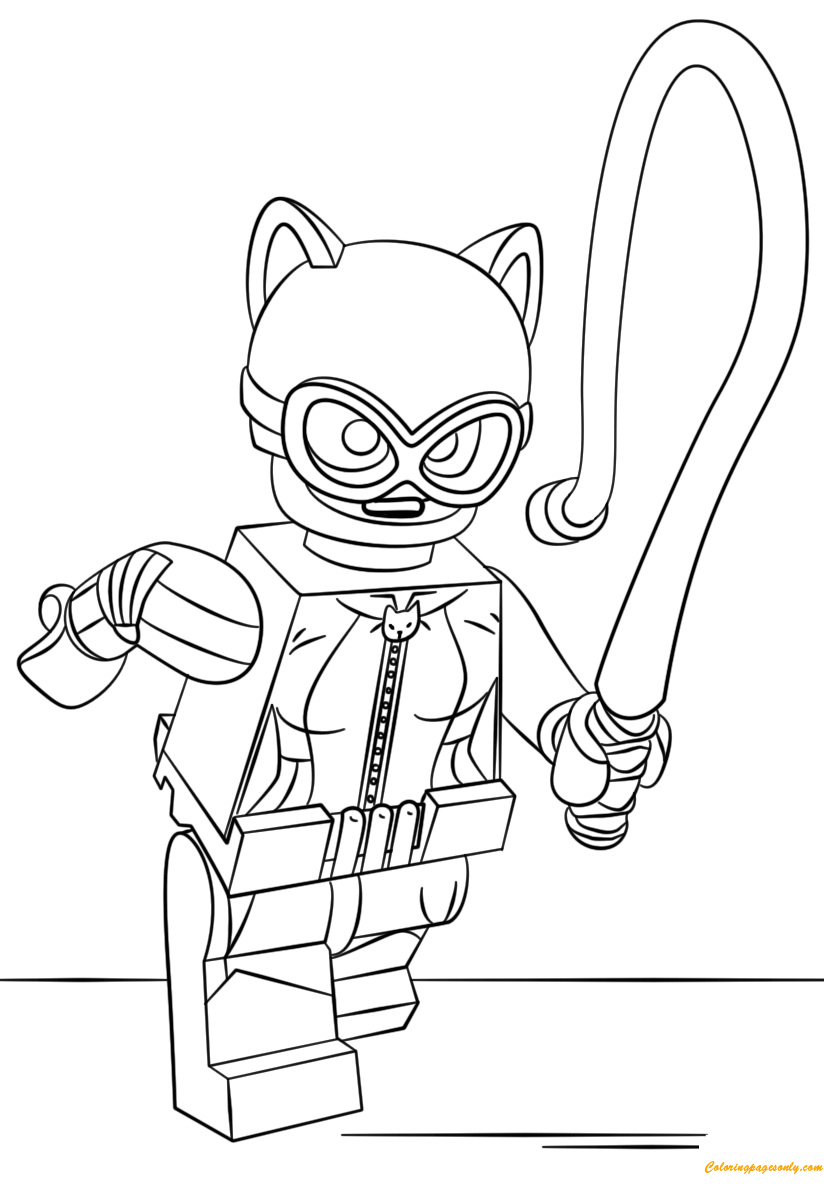 Lego batman catwoman coloring page free coloring pages for Catwoman printable coloring pages