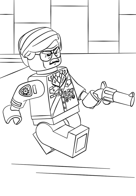 Lego Batman Commissioner Gordon Coloring Page