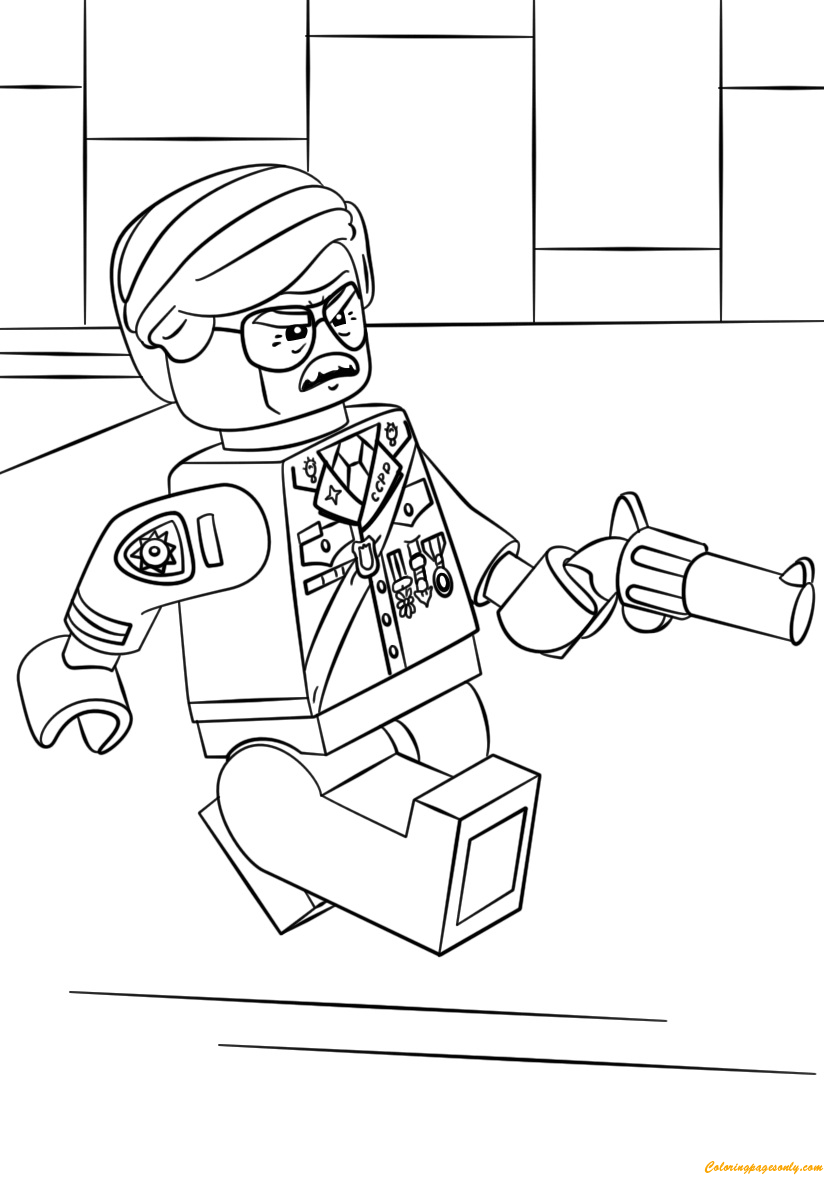 Lego Batman Commissioner Gordon Coloring Page Free
