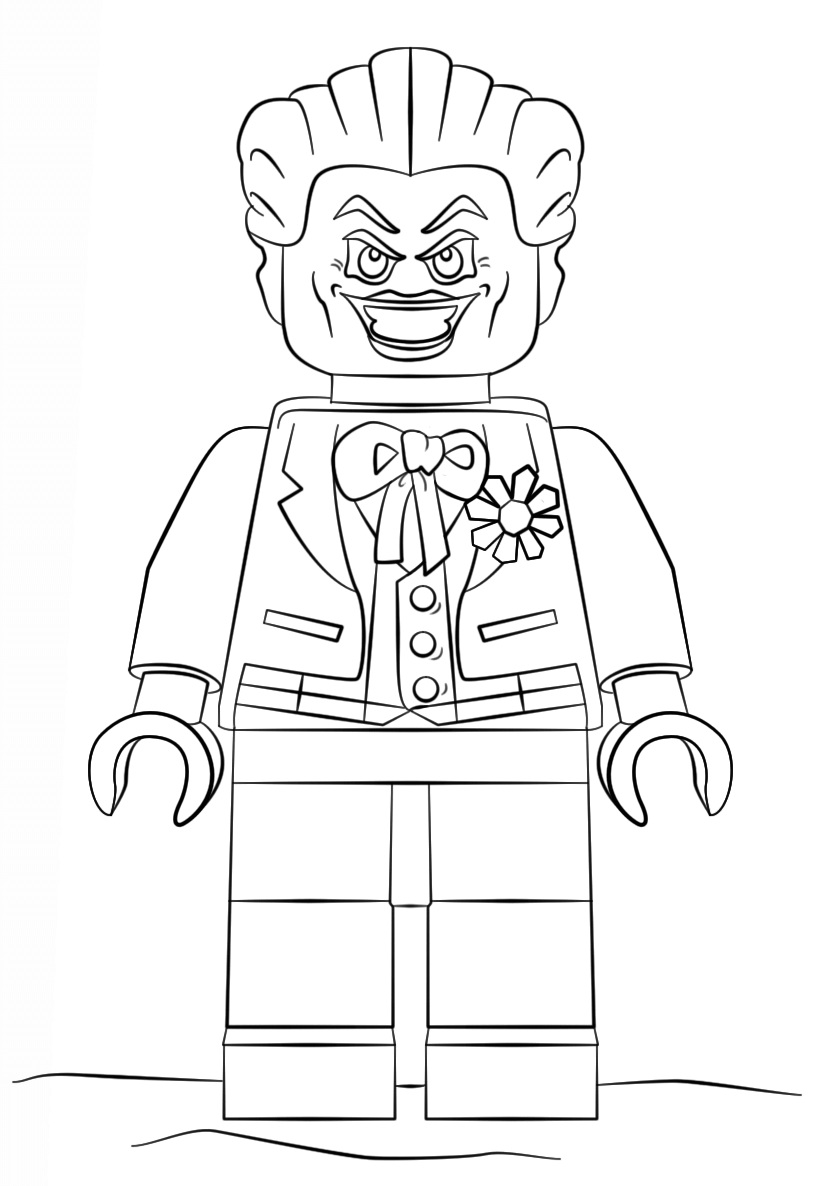 lego batman joker - Lego Green Lantern Coloring Pages