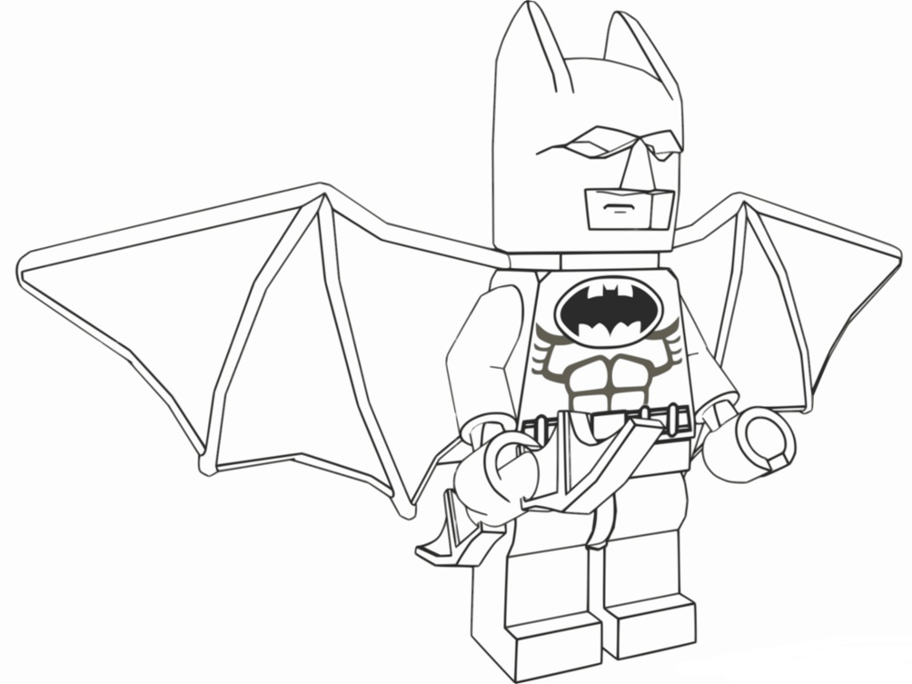 Lego Batman Movie Flying Coloring Page