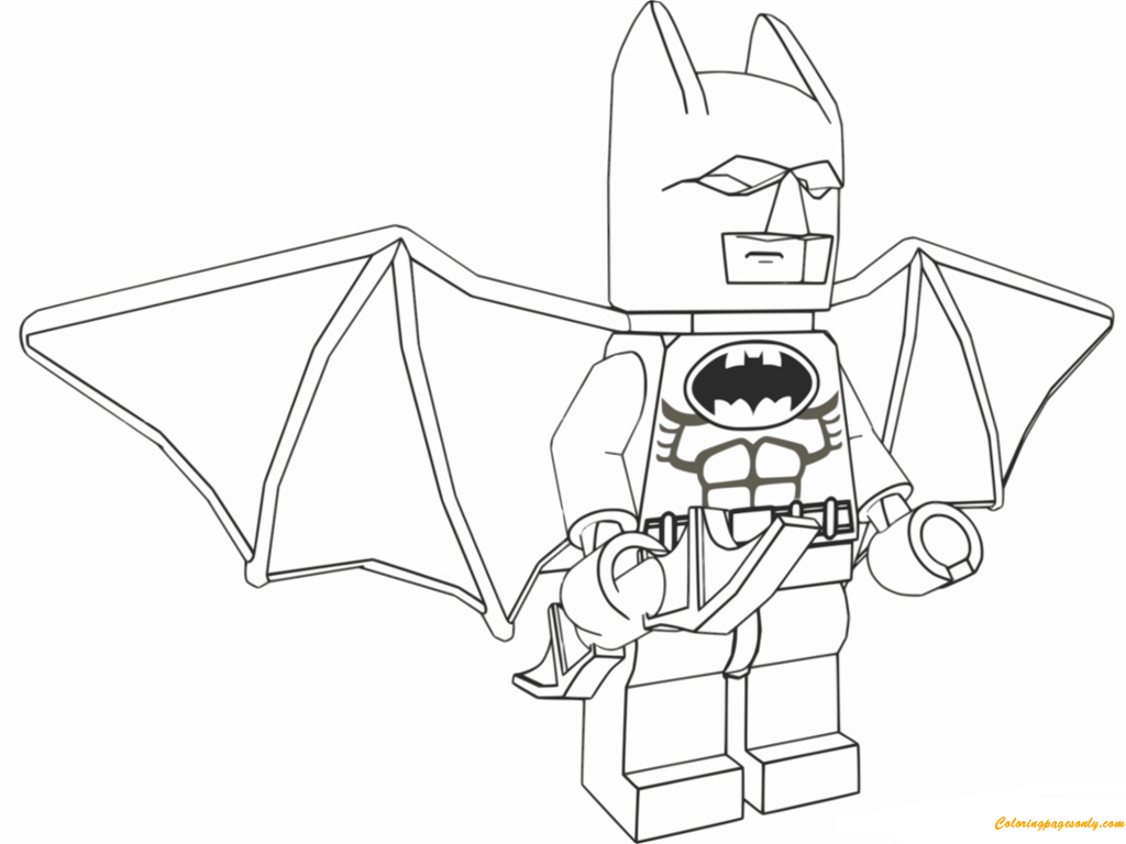 Lego Batman Movie Flying Coloring Page Free Coloring Pages Online