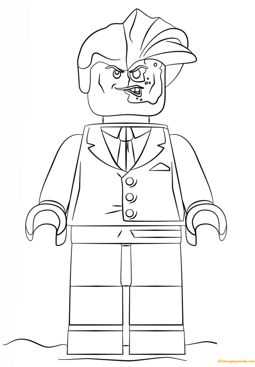 lego batman movie two face coloring page free coloring pages online