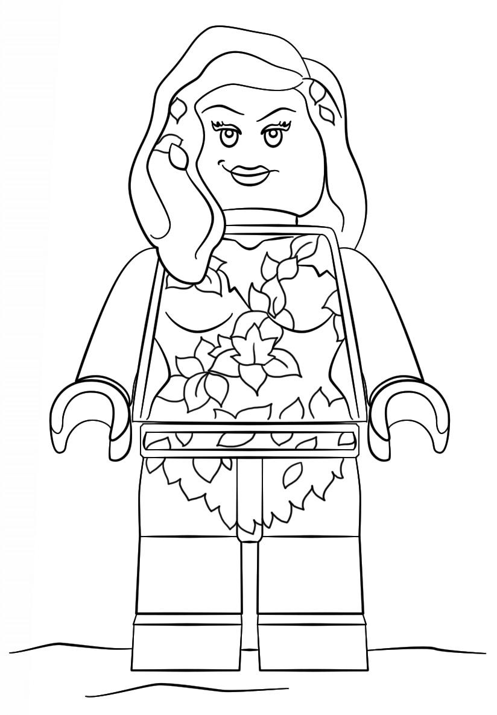Lego Batman Poison Ivy Coloring Page