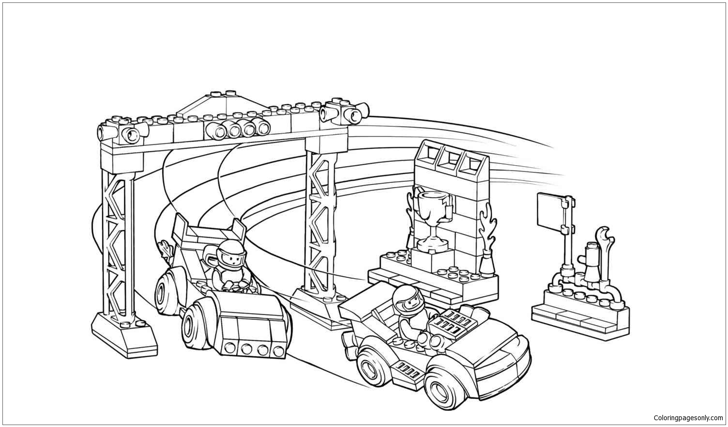 Lego City 2 Coloring Page Free Coloring Pages Online