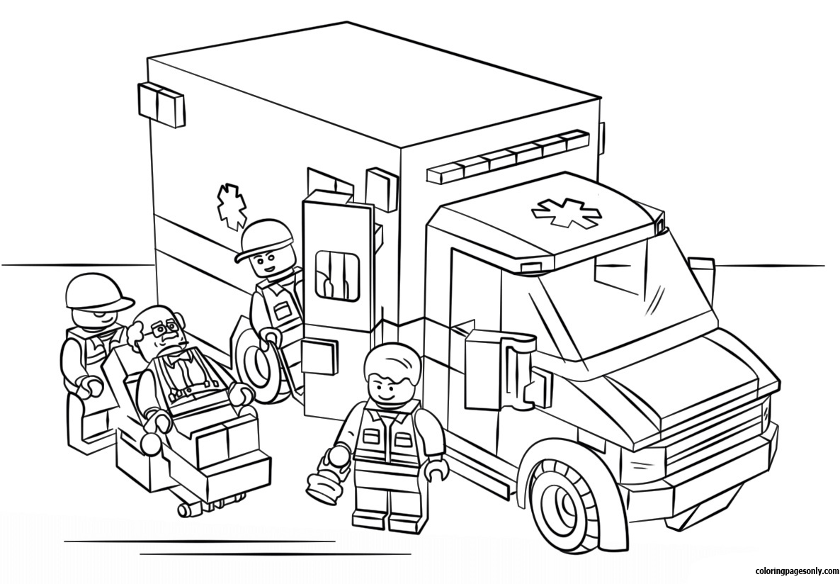 lego city ambulance coloring page free coloring pages online. Black Bedroom Furniture Sets. Home Design Ideas