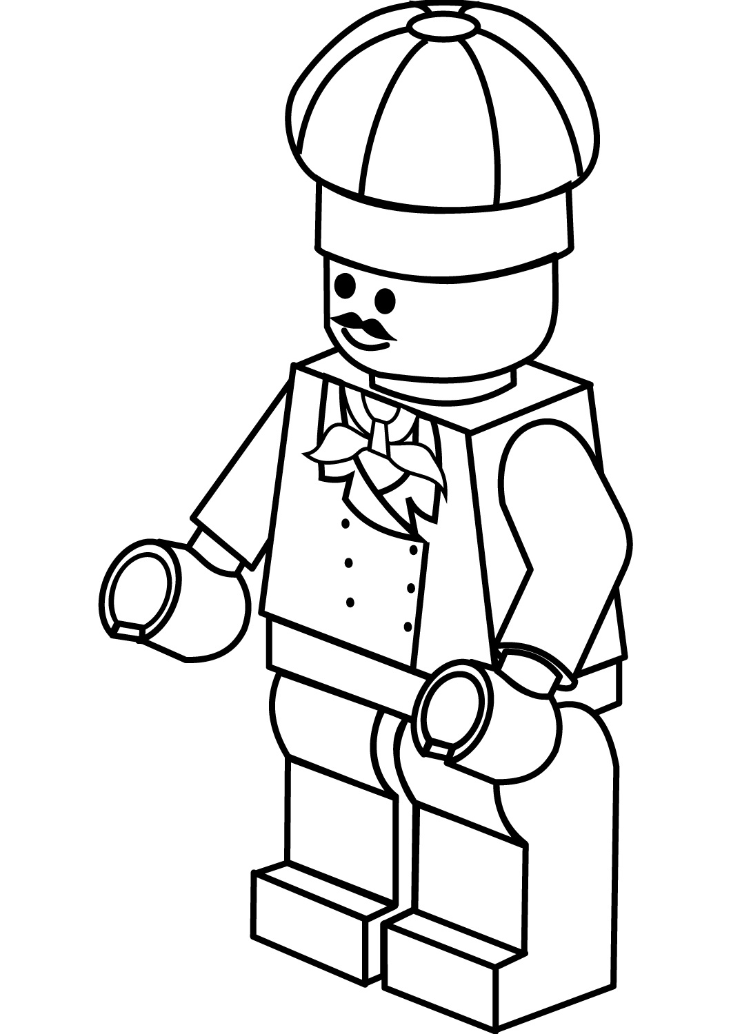 Lego City Chef Coloring Page