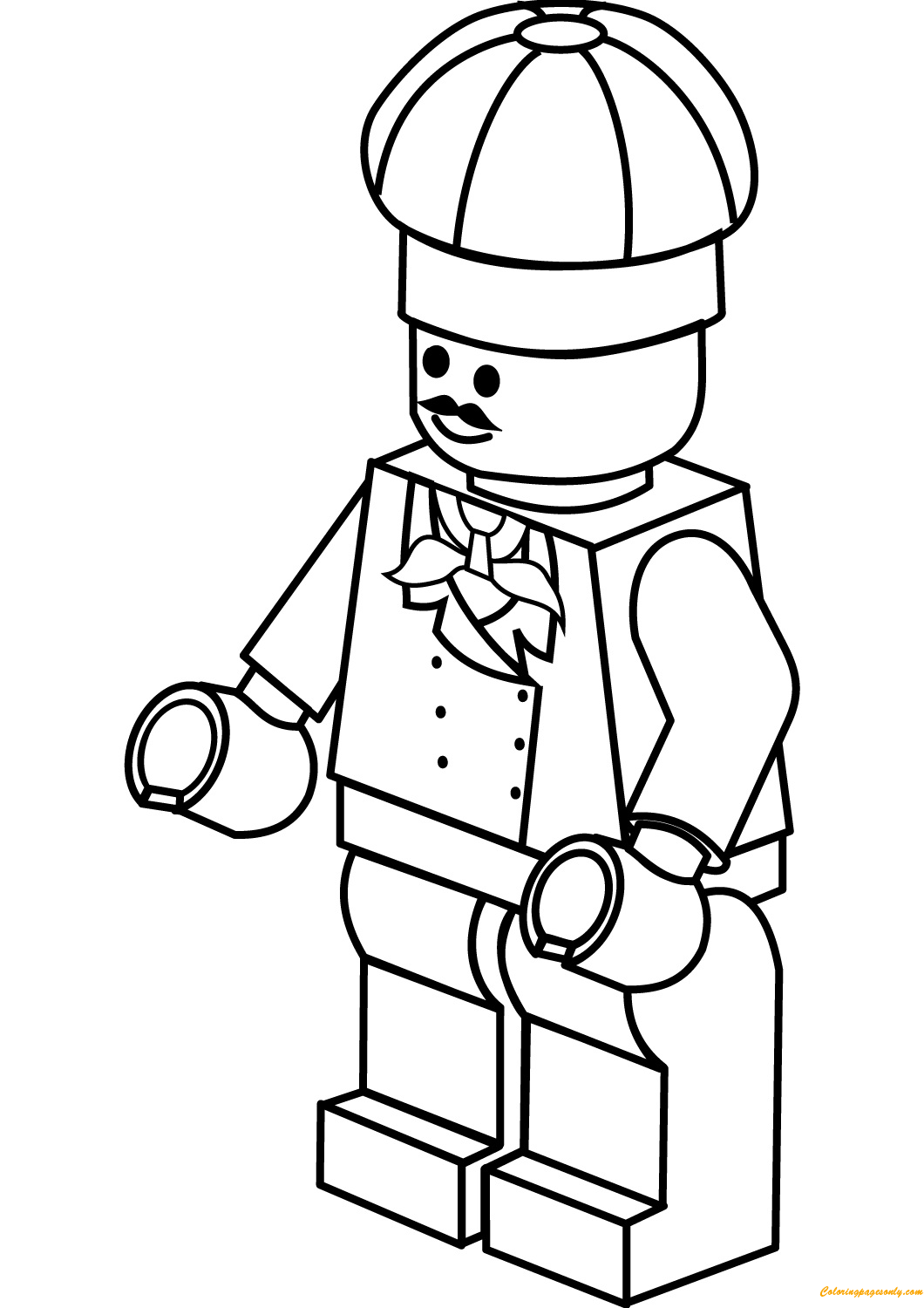 Boston chefs valentines day printable coloring pages ~ Lego City Chef Coloring Page - Free Coloring Pages Online