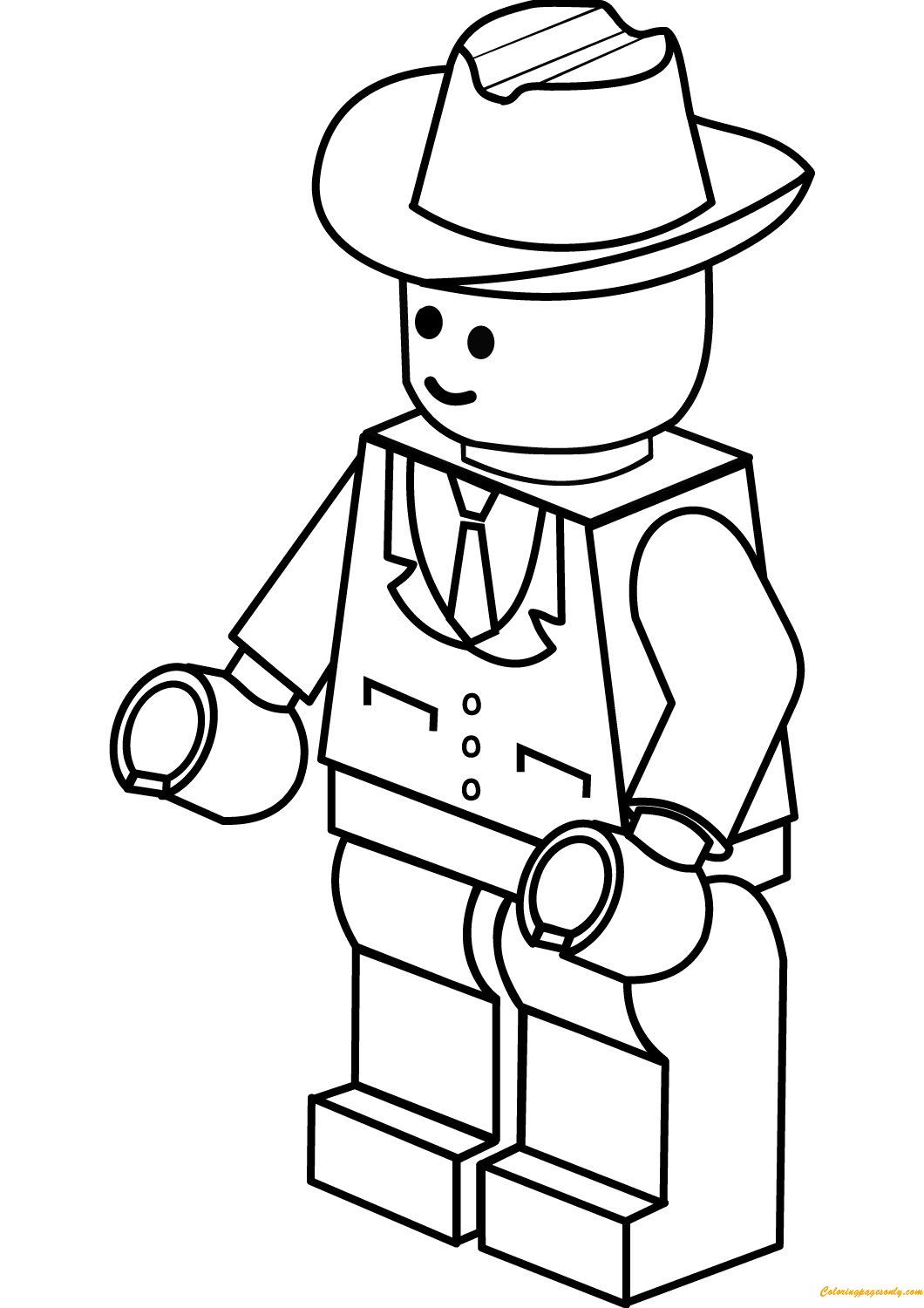 Lego City Cowboy Hat Coloring Page Free Coloring Pages Online