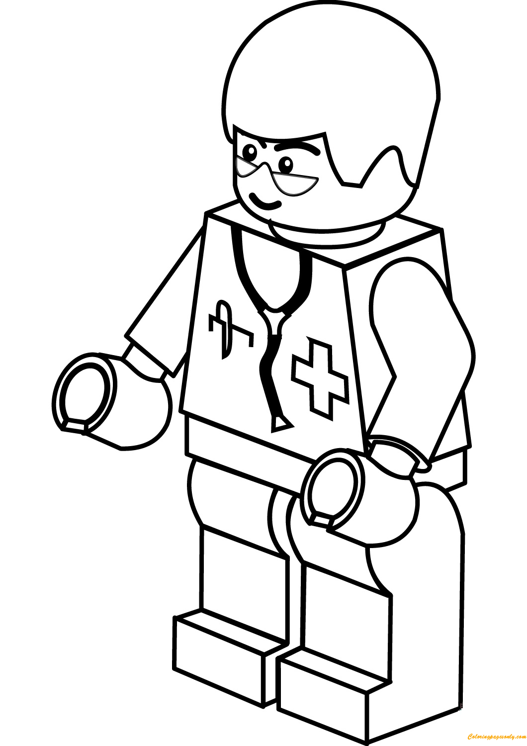 Lego City Doctor Man Coloring Page