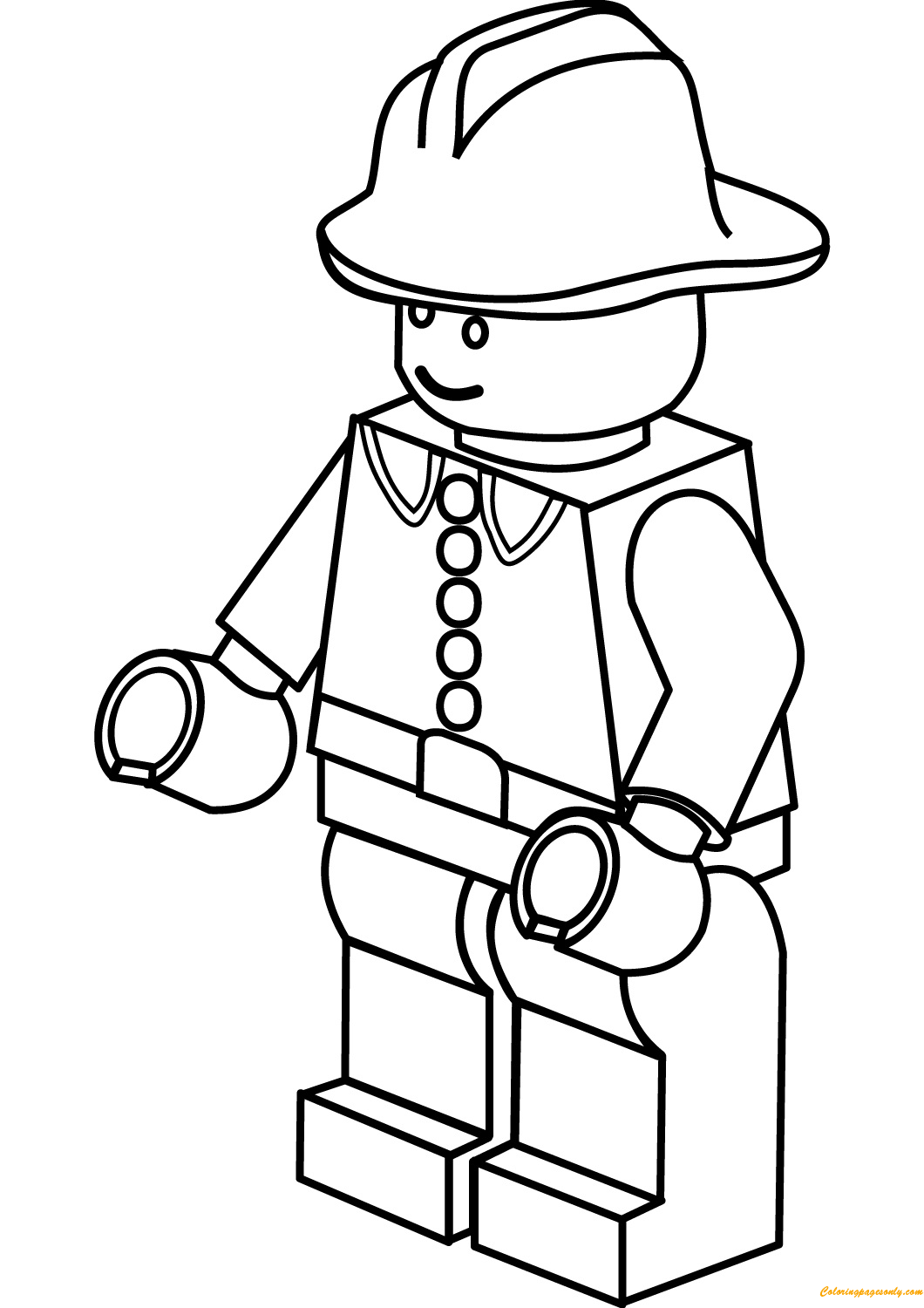 Lego City Firefighter Coloring Page Free Coloring Pages