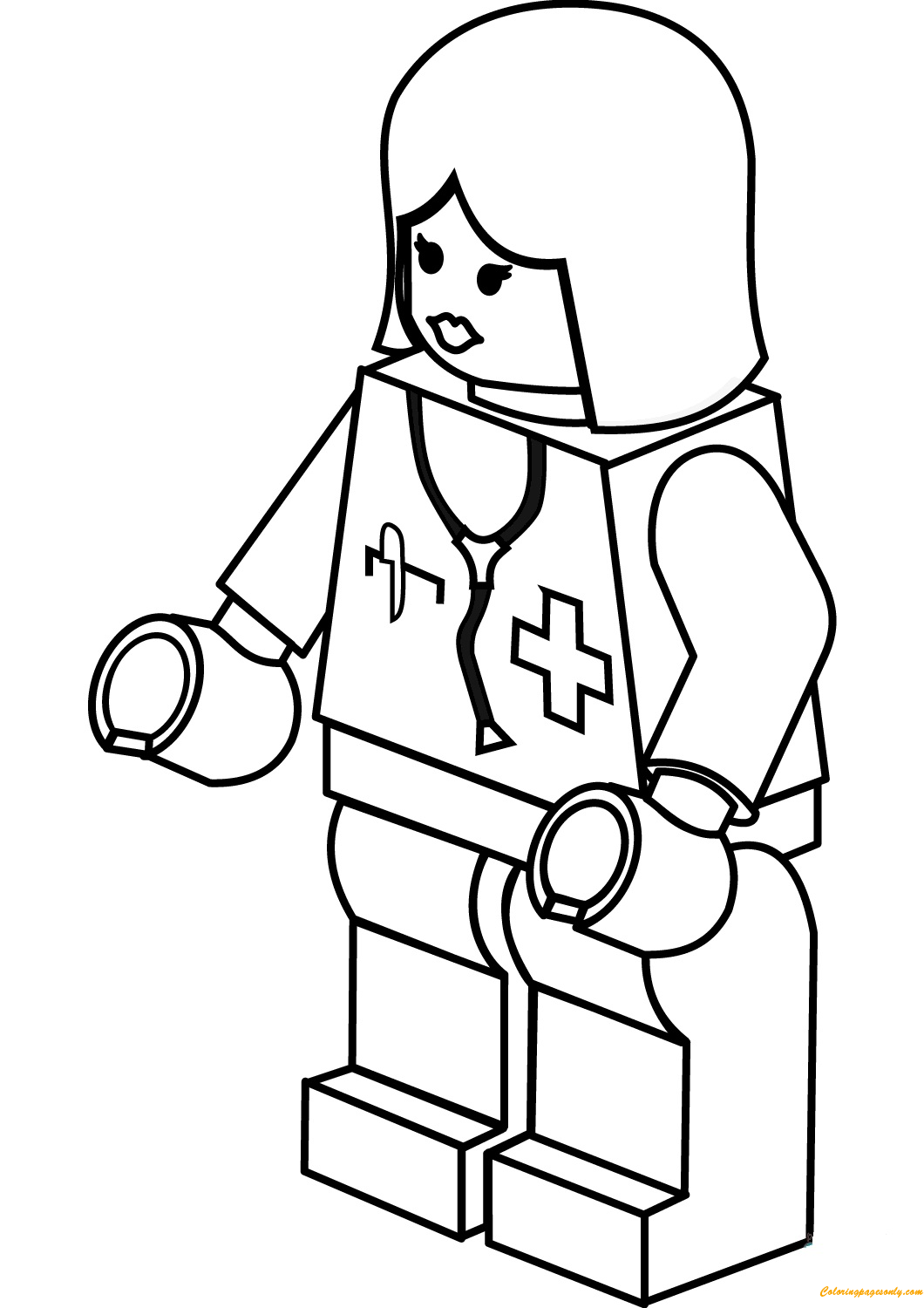 Lego City Lady Doctor Coloring Pages Toys And Dolls Coloring Pages Free Printable Coloring Pages Online