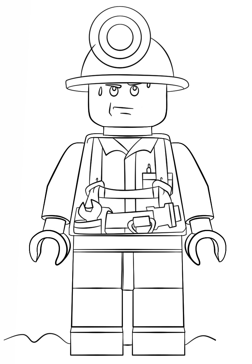 Lego City Mini Figure Miner