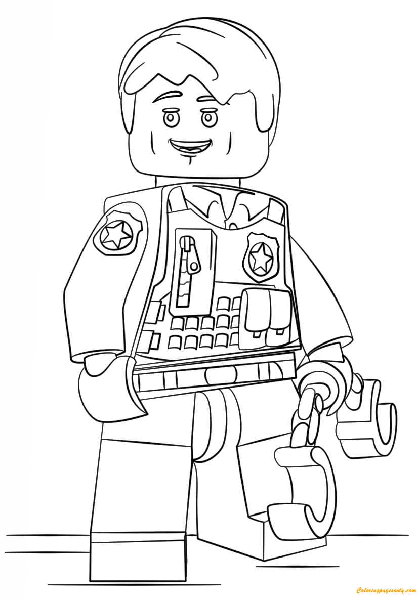 Lego City Undercover Coloring Page