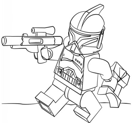 Lego Clone Trooper Coloring Page