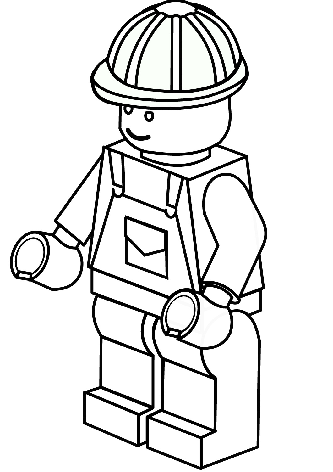 Lego Construction Worker Coloring Page