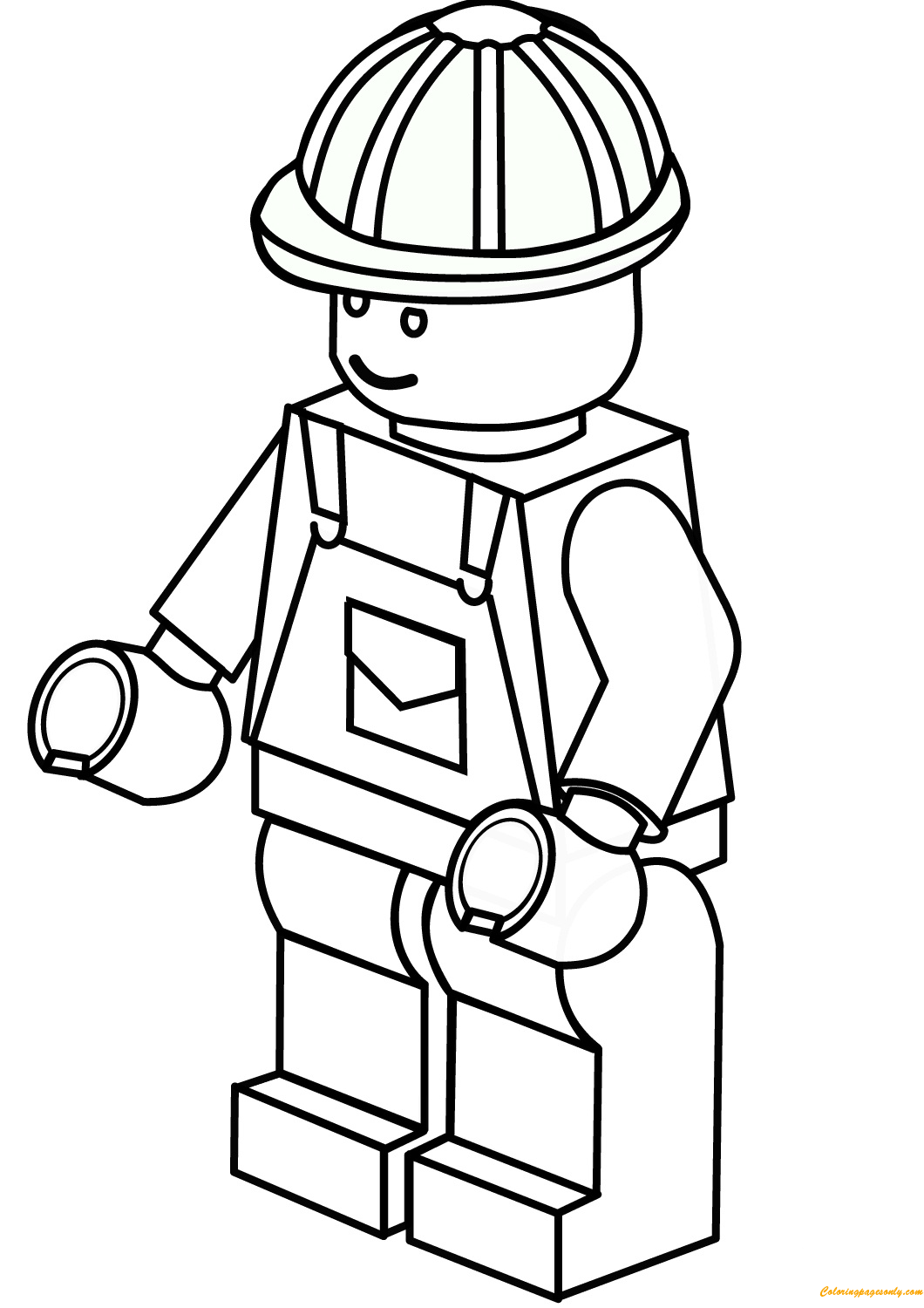 lego construction worker coloring page - Construction Worker Coloring Page