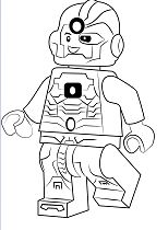 Lego Cyborg Coloring Page