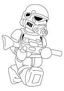 Lego Darth Vader 1 Coloring Page
