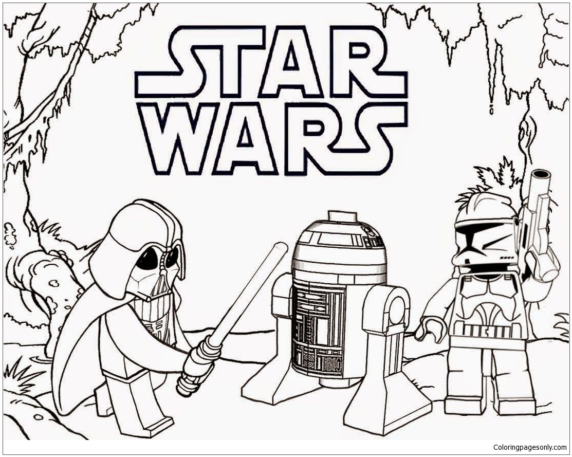 Lego Darth Vader Coloring Page Free Coloring Pages Online