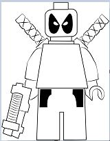 Lego Deadpool 1 Coloring Page