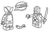 Lego Deadpool 3 Coloring Page