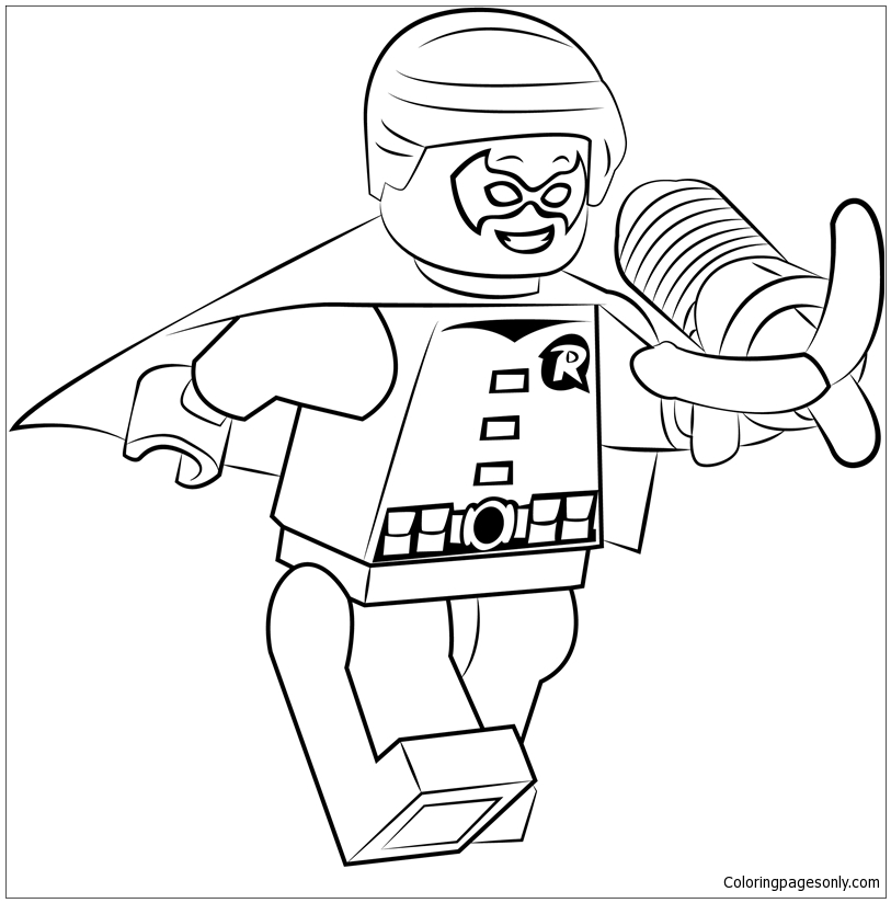 Lego Dick Grayson Aka Robin Jr Coloring Page Free Coloring Pages Online