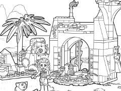 LEGO Disney Moana Island Coloring Page