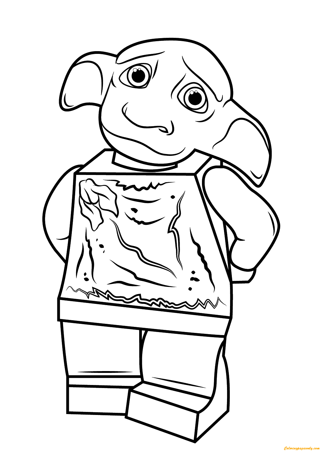 Lego Dobby Harry Potter Coloring Page - Free Coloring Pages Online