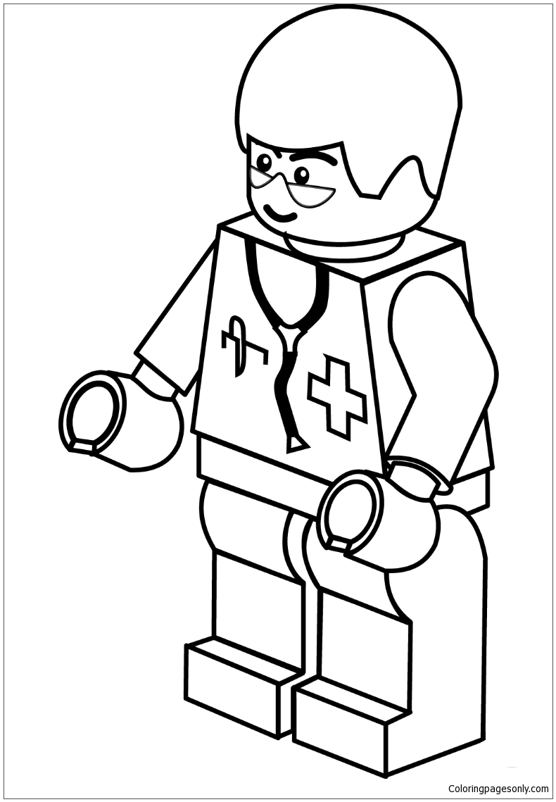 Lego Doctor Coloring Page - Free Coloring Pages Online