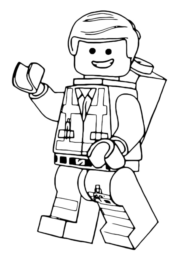 Lego Emmet Coloring Page