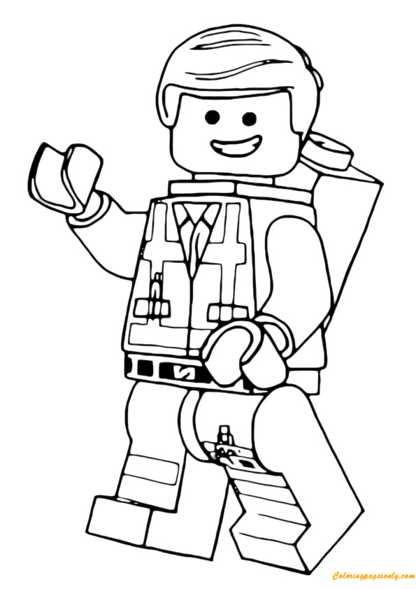 Lego emmet coloring page free coloring pages online for Lego movie coloring pages