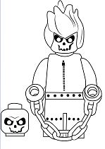 Lego Ghost Rider Coloring Page