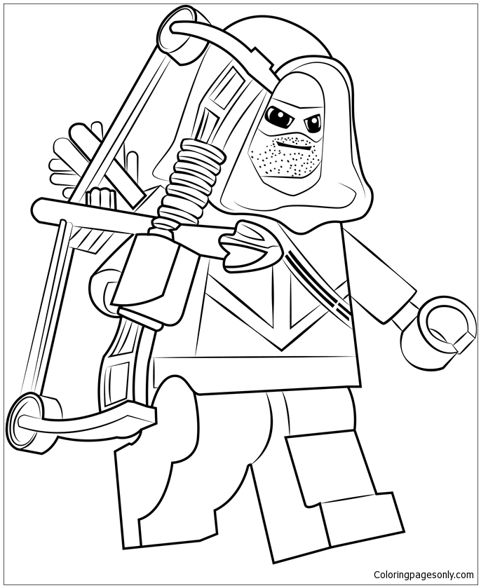 Lego Green Arrow Coloring Page Free Coloring Pages Online