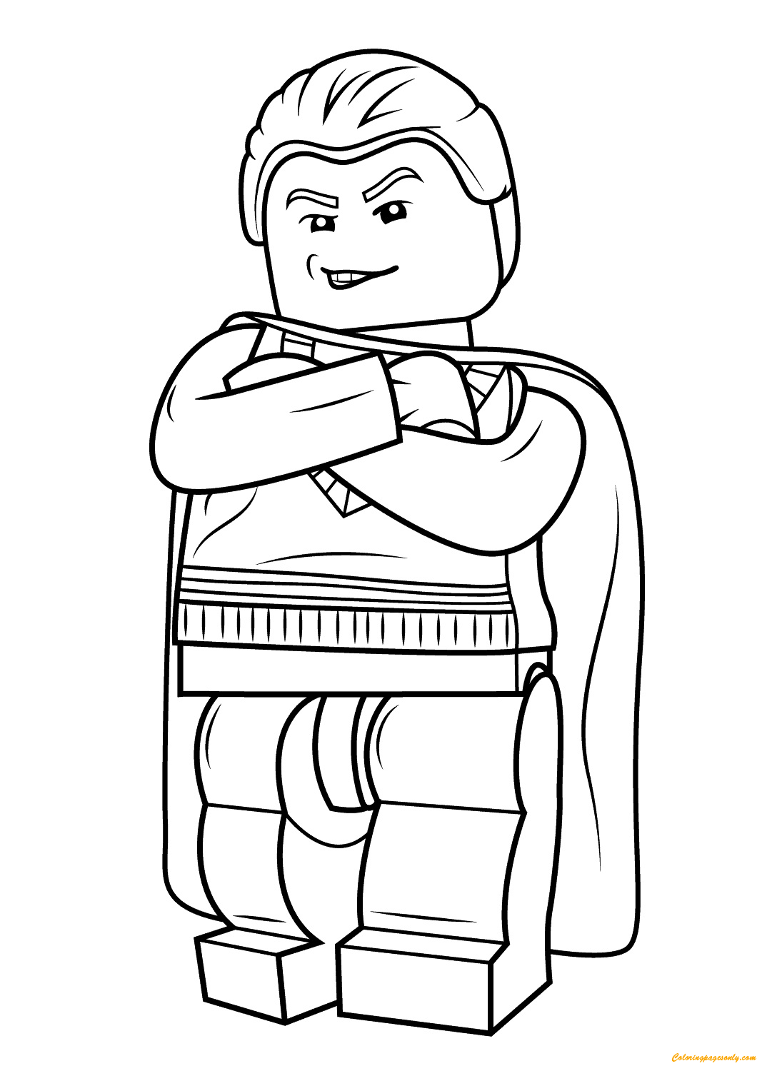 Lego Harry Potter Draco Malfoy Coloring Page Free