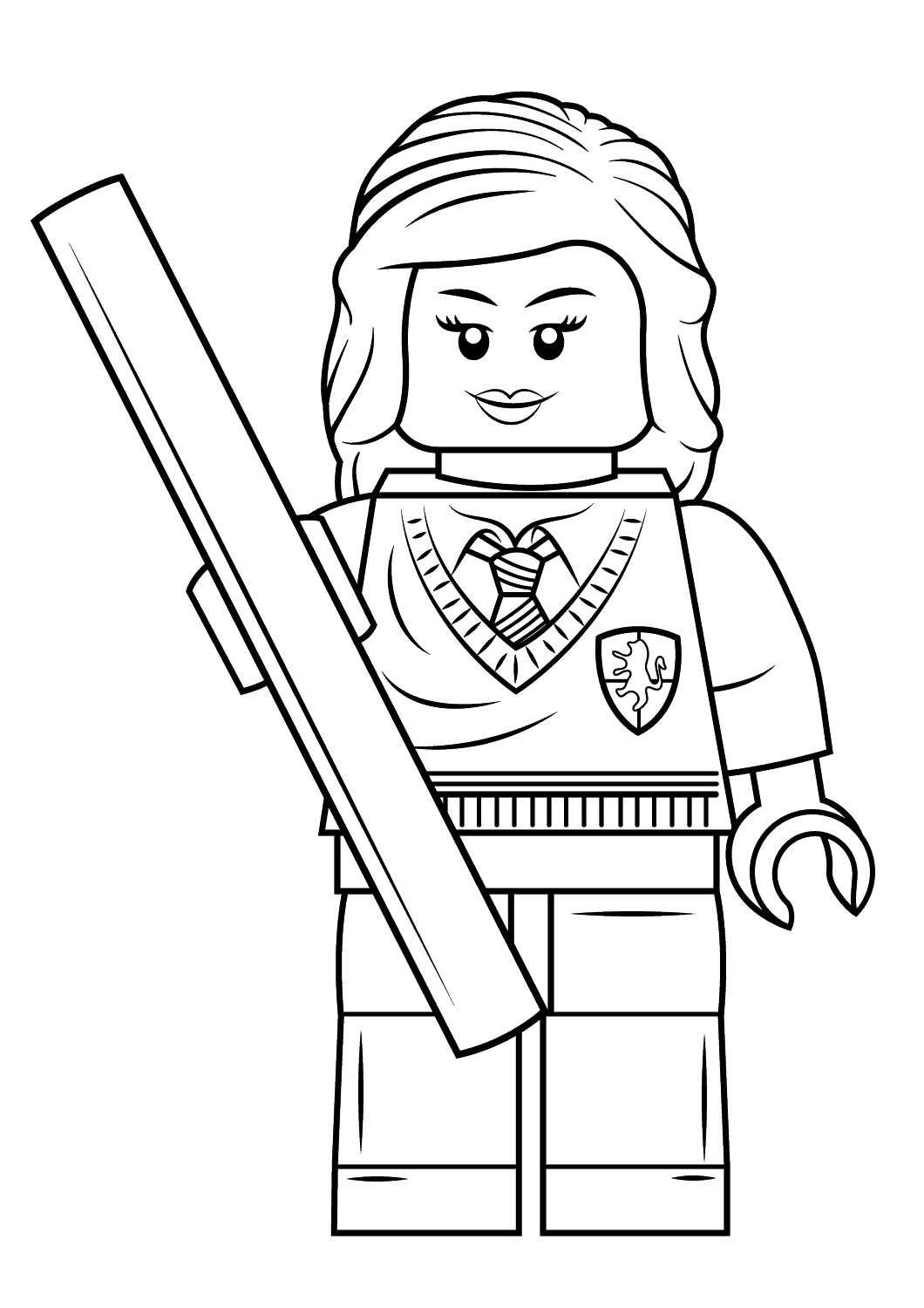 Lego Harry Potter Hermione Granger Coloring Page