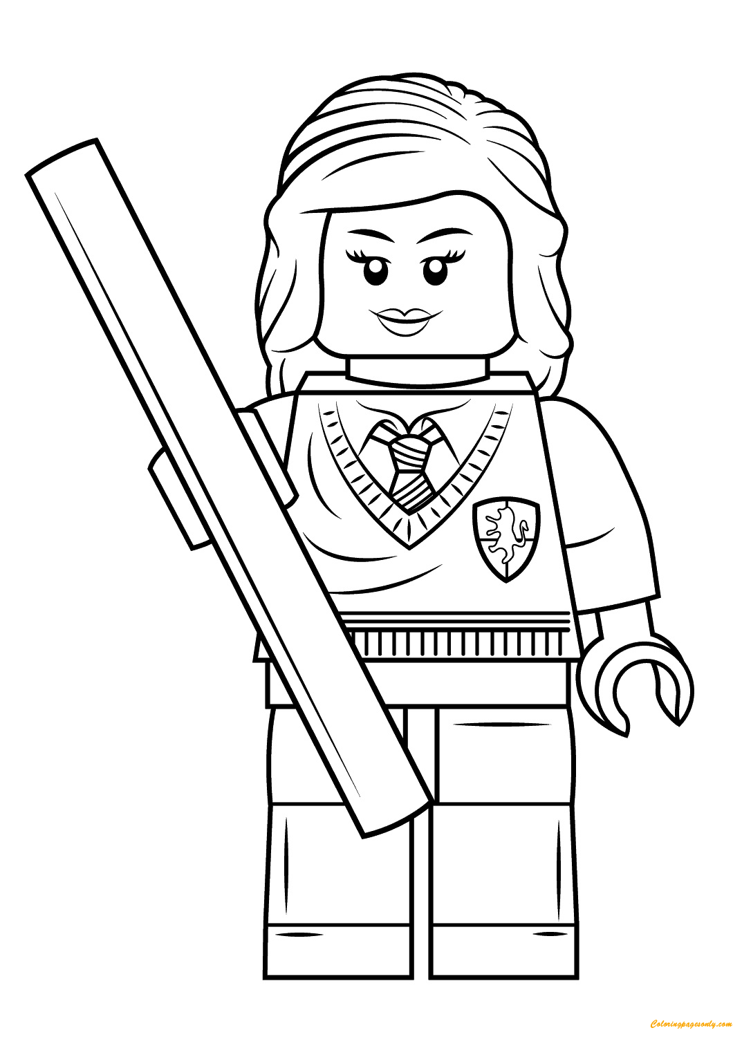 Lego Harry Potter Hermione Granger Coloring Page Free