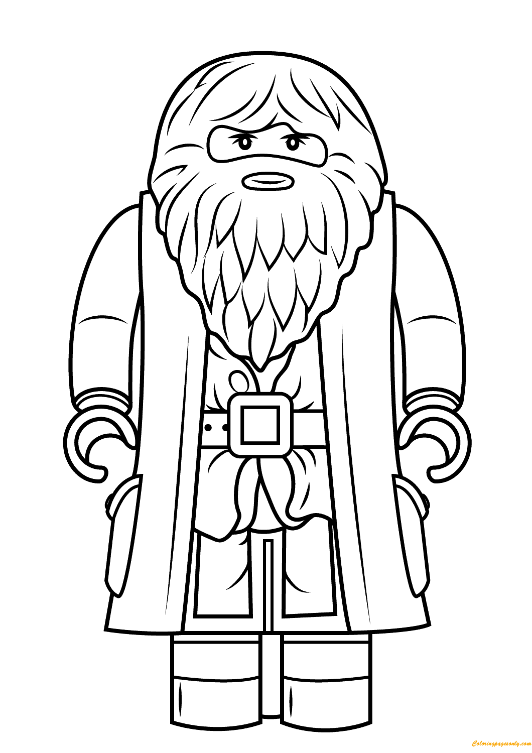Lego Harry Potter Rubeus Hagrid Minifigure Coloring Page