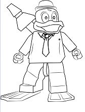 Lego Howard the Duck Coloring Page