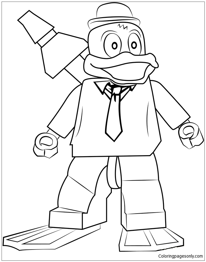Lego Howard the Duck Coloring Pages