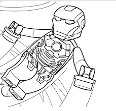 Lego Iron Man 1 Coloring Page