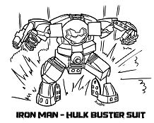 Lego Iron Man Hulkbuster Coloring Page